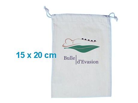 Pochon publicitaire coton blanc 15 x 20 cm