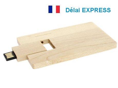 carte usb publicitaire bois express
