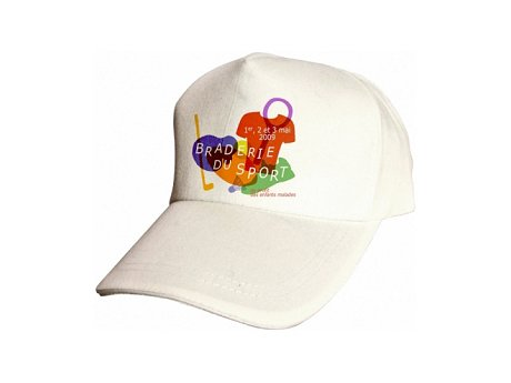 casquette publicitaire personnalisée blanche