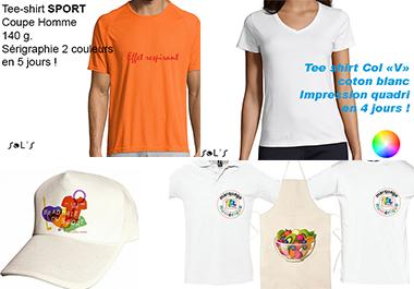 objets publicitaires délai express textile publicitaire