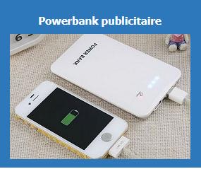 powerbank publicitaires personnalises