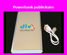 Powerbank publicitaire personnalisé