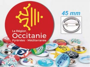 badge personnalise rond-45mm