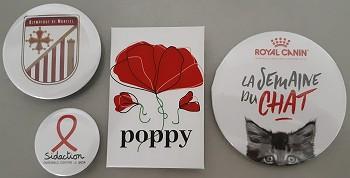 Badges publicitaires personnalisés
