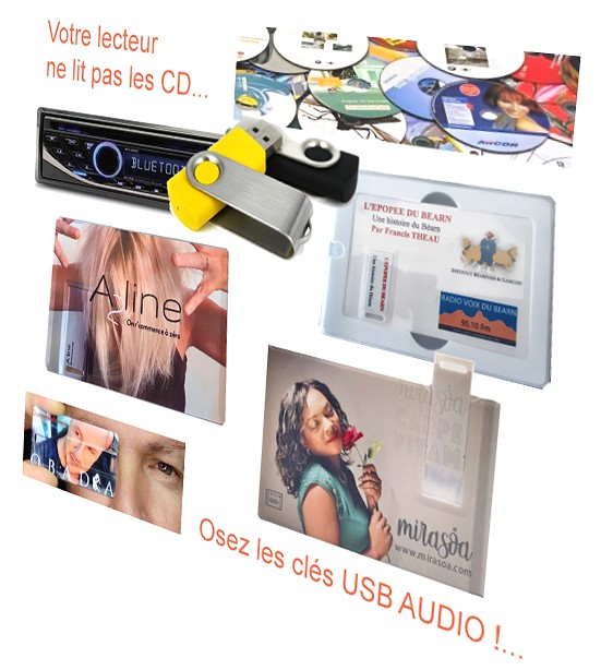 album cd en clé usb