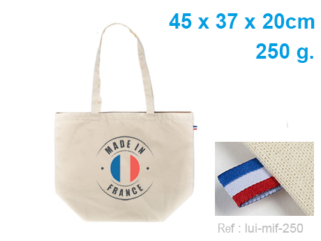 sac cabas coton made in france